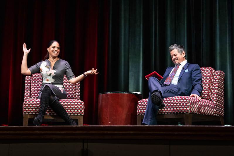 Soledad O'Brien on stage at ISU