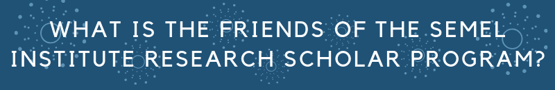 what is the friends of the semel institute research scholar program?