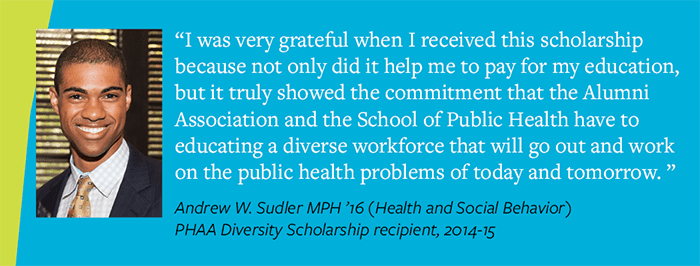 Testimonial from Andrew Sudler MPH '15