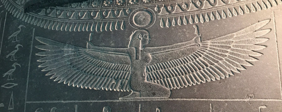 Winged goddess Isis