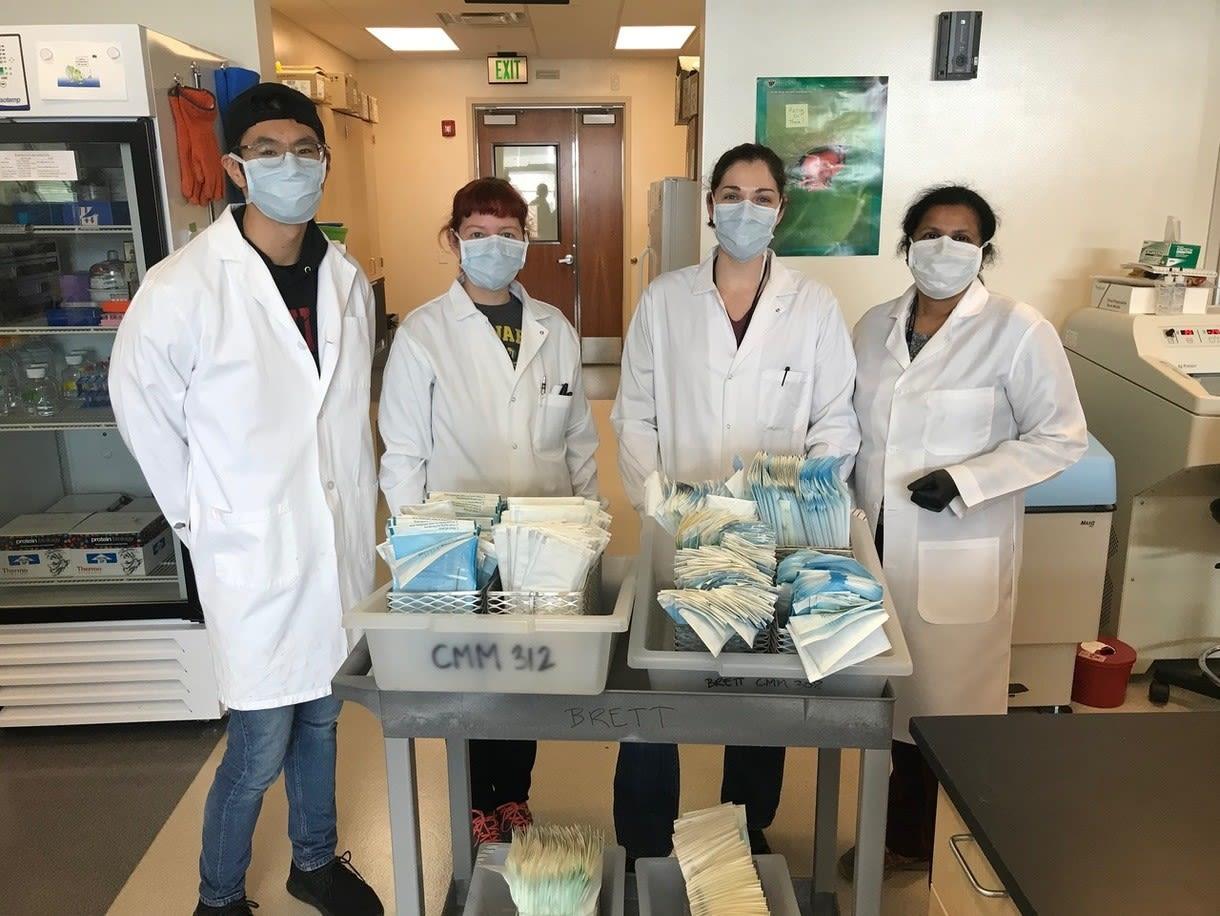 UNR Med Staff wearing masks
