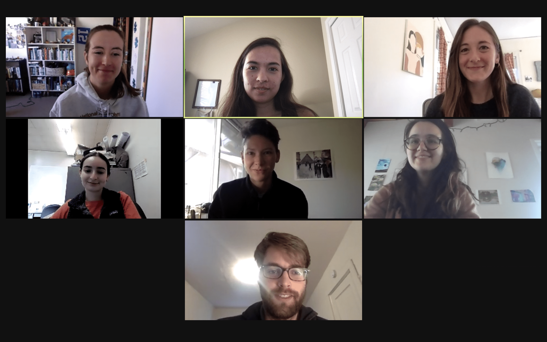 BSR editorial staff meeting over Zoom