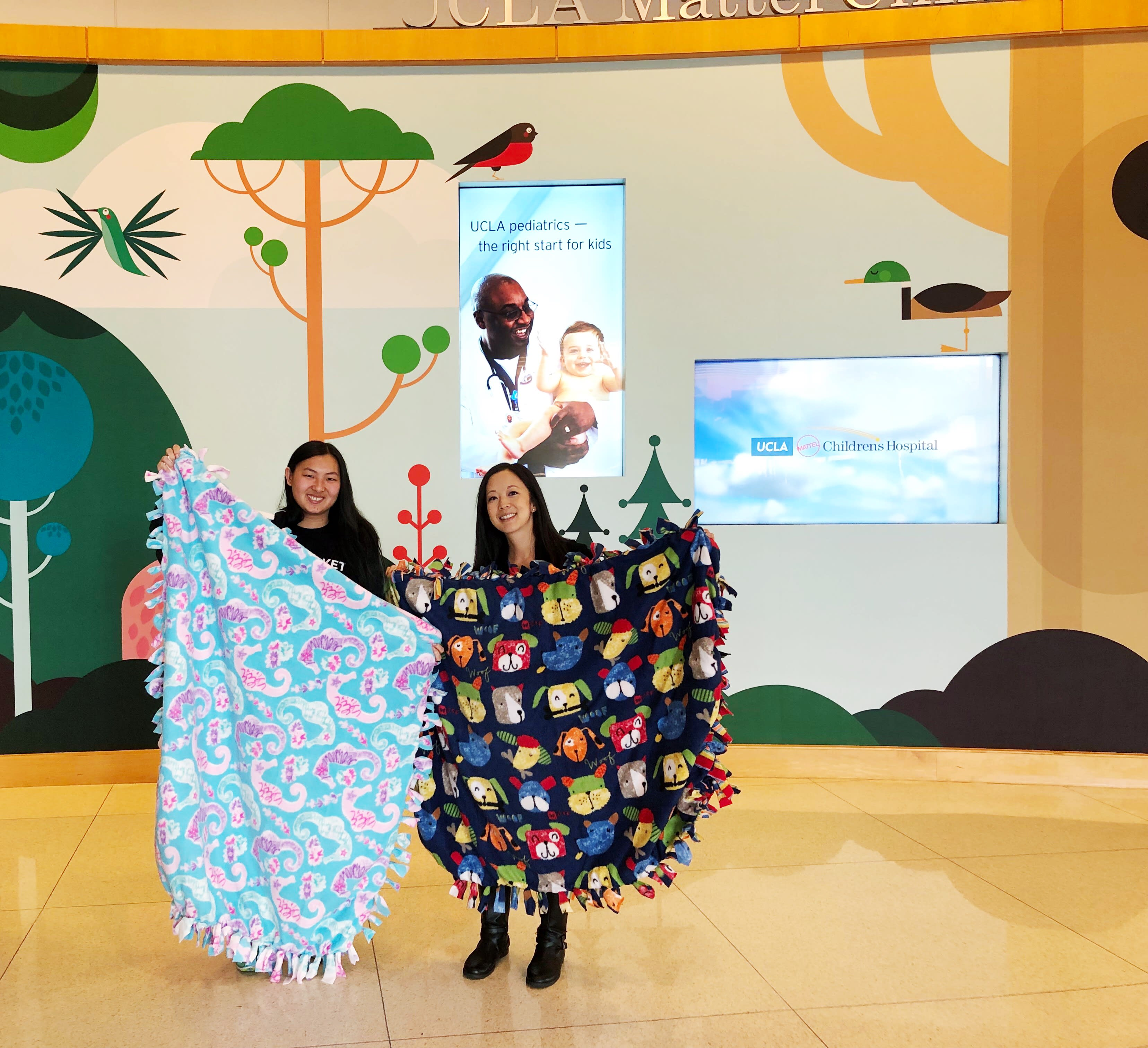 Photo of UCLA Mattel Children's Hospital receiving our blanket donation
