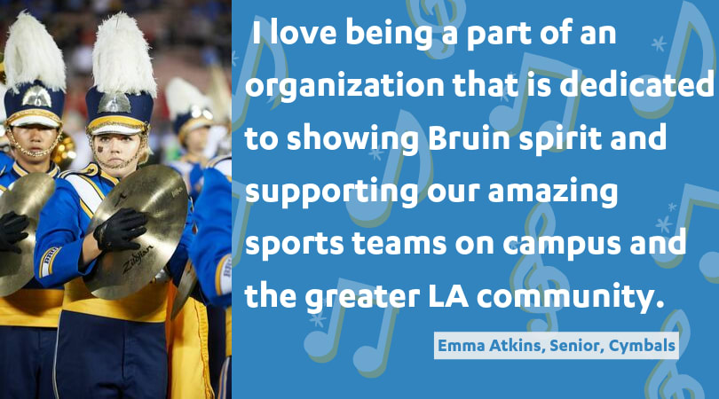 I love being a part of an organization that is dedicated to showing Bruin spirit and supporting our amazing sports teams on campus and the greater LA community.