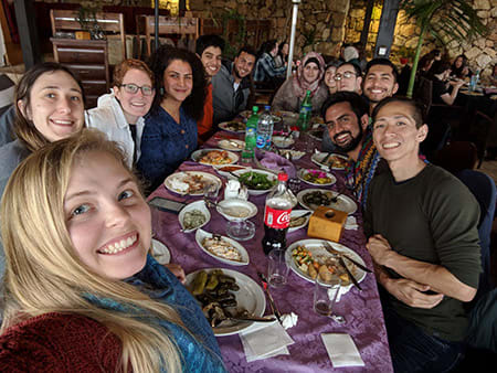 Lunch with students from Birzeit University