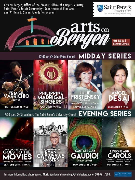 Arts on Bergen Fall 2016 Concert Lineup