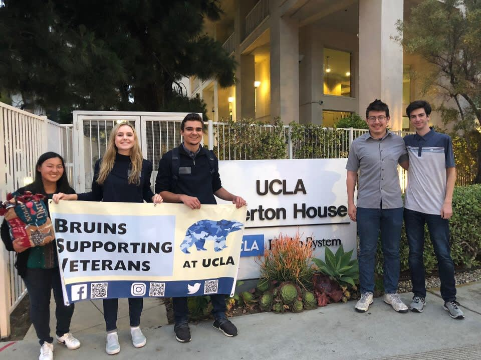 Photograph of Hugs in a Blanket with UCLA club, Bruins Supporting Veterans