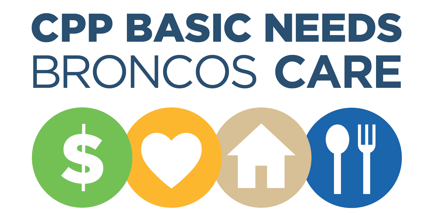 CPP Broncos Care Basic Needs Logo