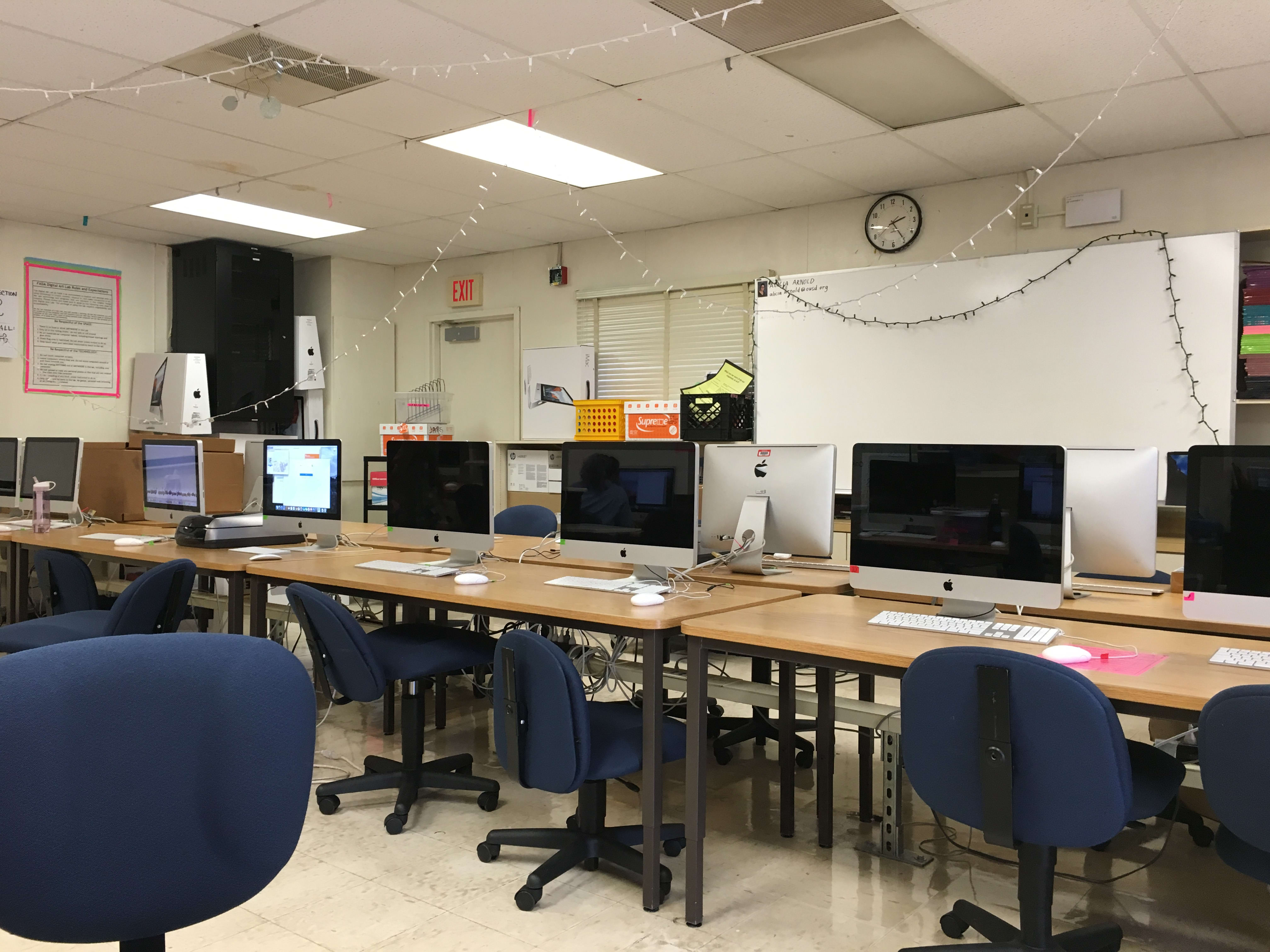 Oakland Tech FADA's Advanced Arts classroom