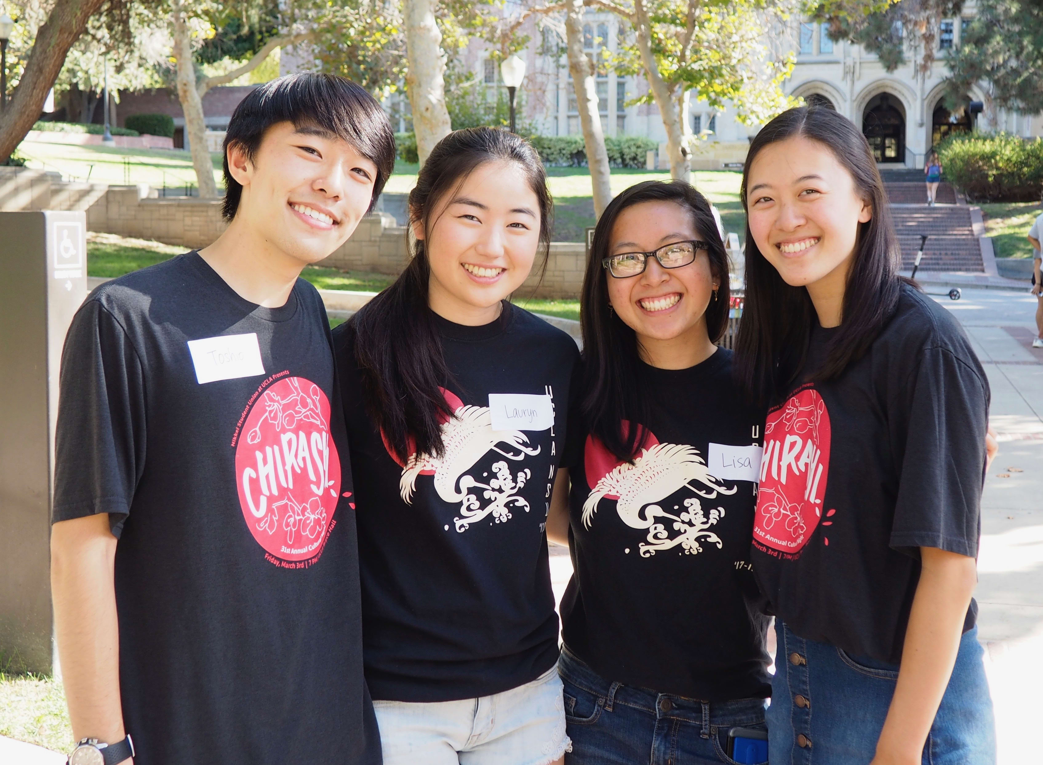 A photo of the 4 members of the UCLA Nikkei Student Union Cultural NIght Team