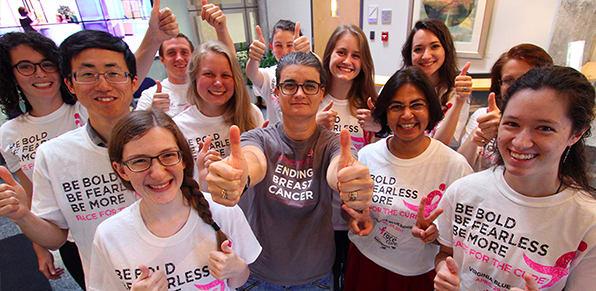 breast cancer survivor group photo