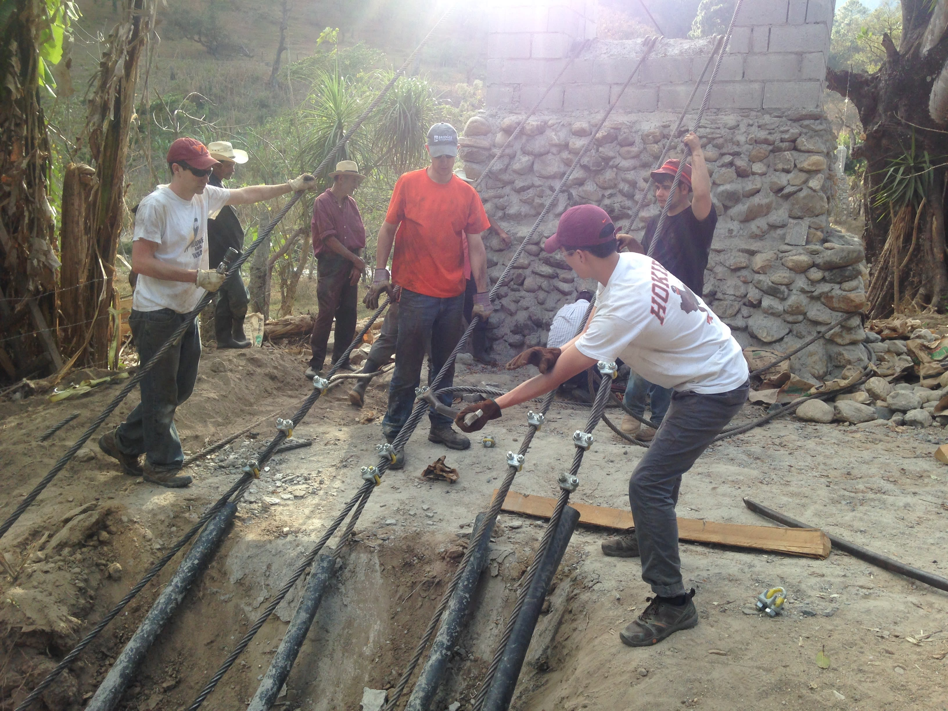 VT Engineers building bridges