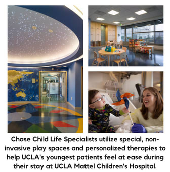 Chase Child Life Program includes tailored, personal attention from one of the Child Life Specialists. We go above and beyond to make the hospital environment more relaxed, positive, and FUN for our youngest patients.