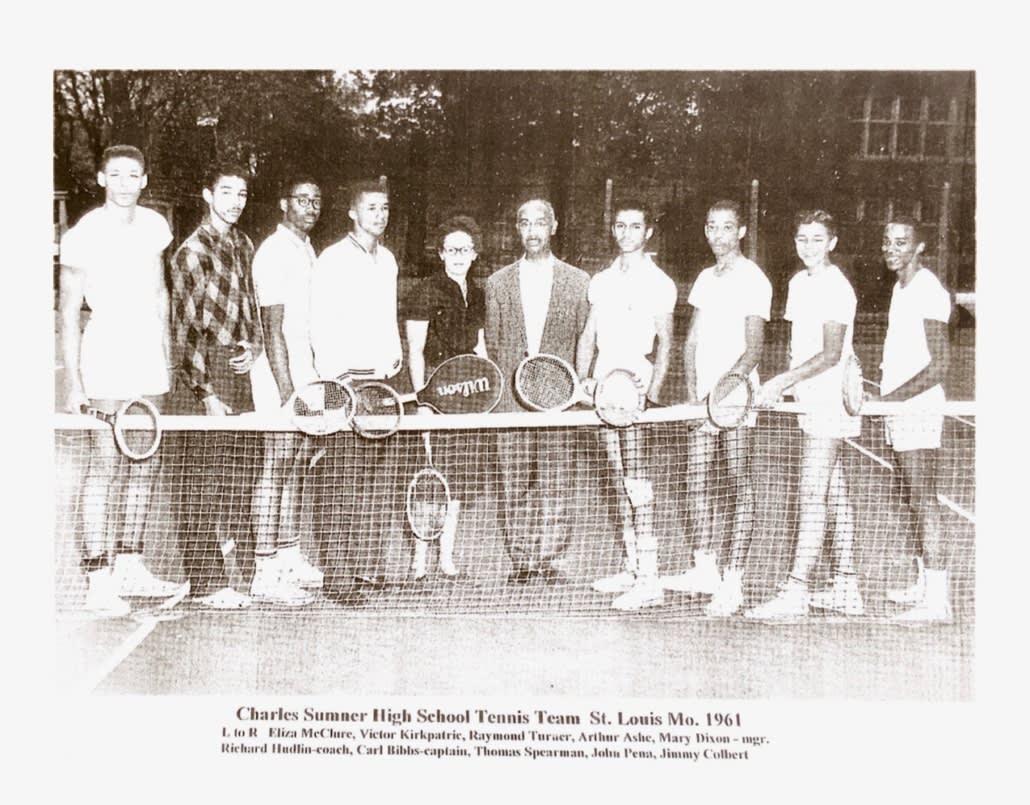 Image of Charles Sumner High School Tennis Team St. Louis Mo. 1961