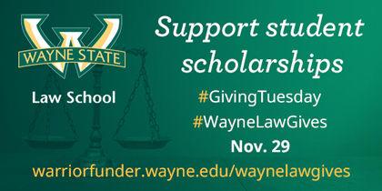 Wayne Law #GivingTuesday logo