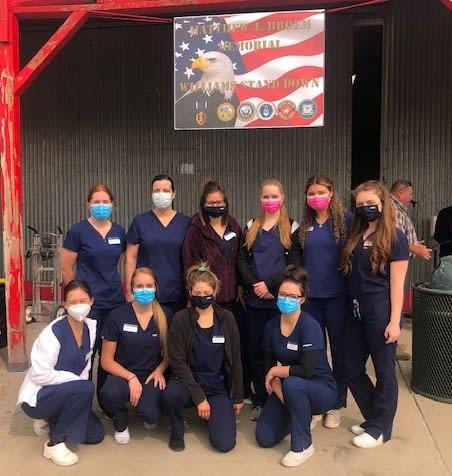 Dental hygiene students group shot