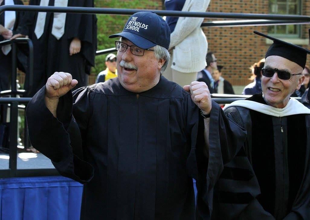 Bob Felten at graduation