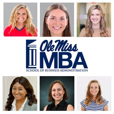 Group photo of team members and MBA logo
