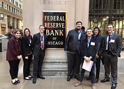 Miller College Students at the Federal Reserve Bank in Chicago