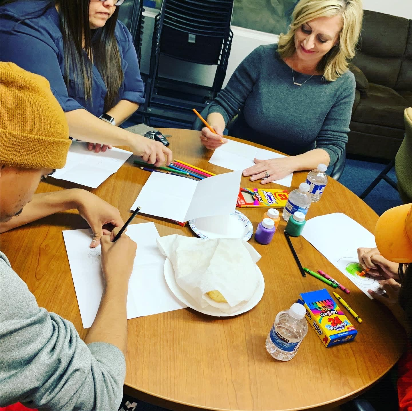 Coping skills activity hosted by NAU OT students for Foster Arizona Housing Project participants.