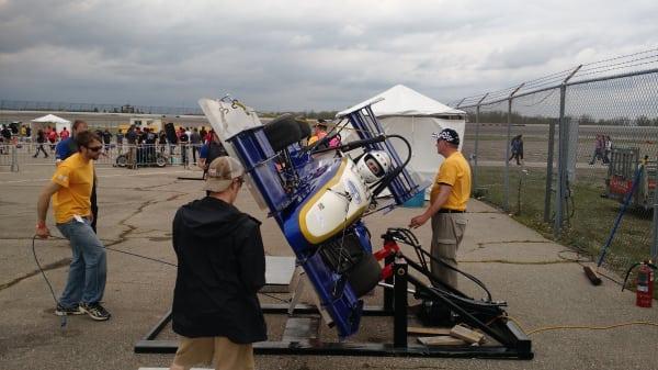 ER02 During the tilt test, a part of safety inspection