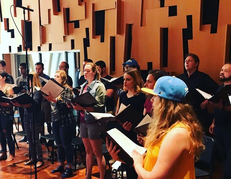 Chamber Singers in Ostin Recording Studio