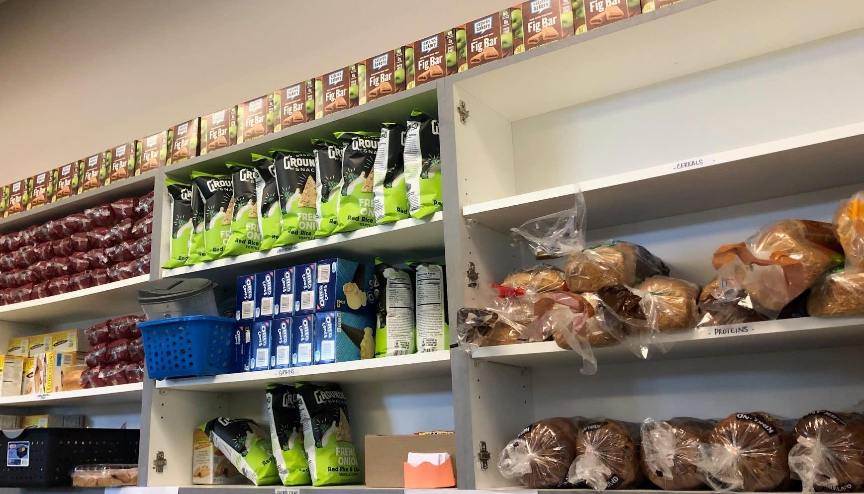 Food pantry shelves
