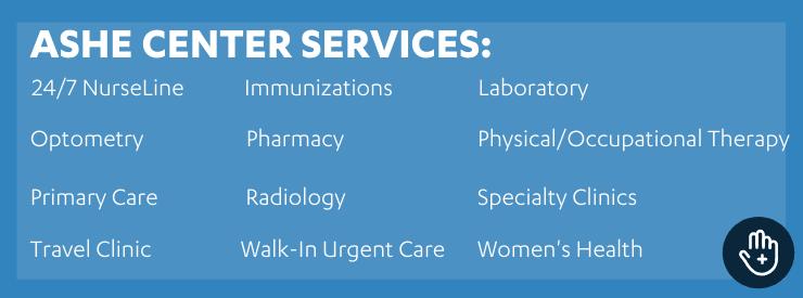 ashe center services