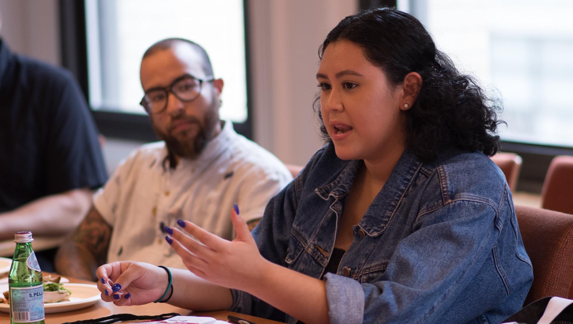 NYU Gallatin GUIDE scholars in a seminar discussion.