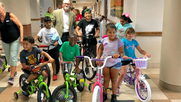Ivy Tech and Public Safety Academy Bike Give Away 2019 Image