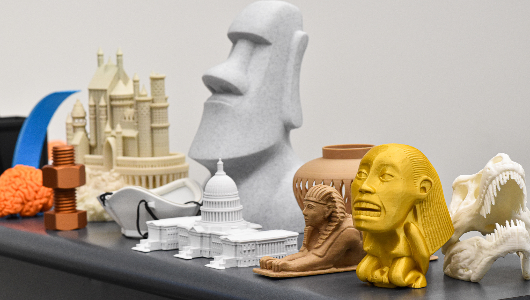 3D printed object examples.