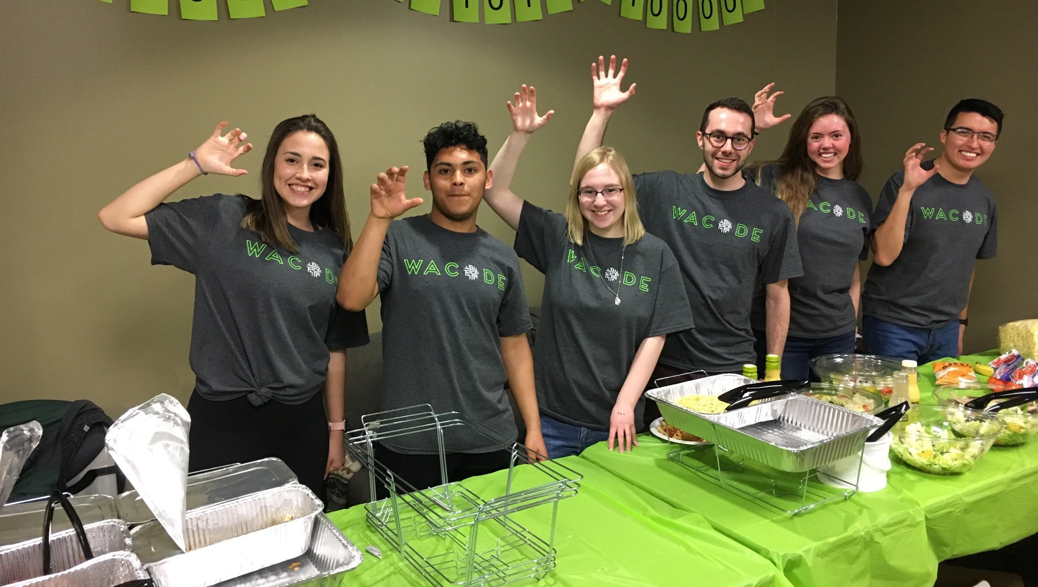 Members of The Wacode Team after feeding some hungry hackers!