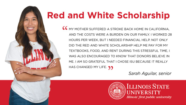 Giving Tuesday Red and White Scholarship Image
