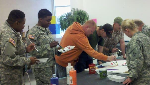 Military Artistic Healing Image