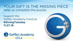 Support Geffen Academy at UCLA on #GivingTuesday!