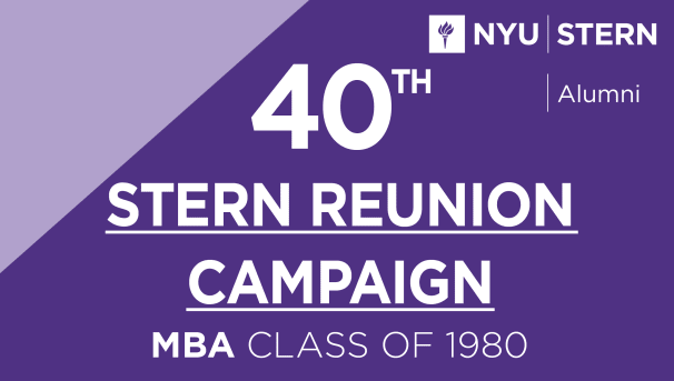 Stern MBA Class of 1980 Reunion Campaign Image