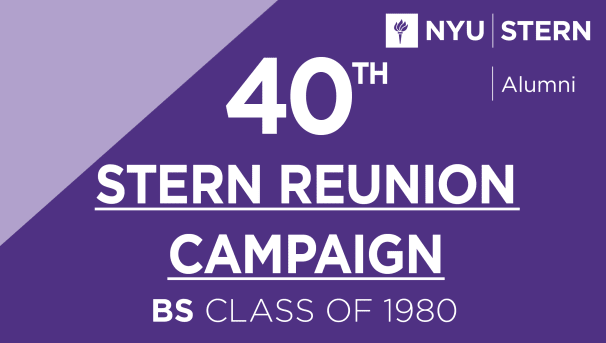 Stern BS Class of 1980 Reunion Campaign Image