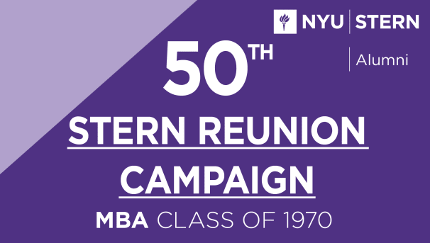 Stern MBA Class of 1970 Reunion Campaign Image