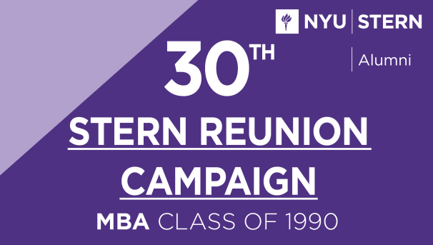 Stern MBA Class of 1990 Reunion Campaign Image