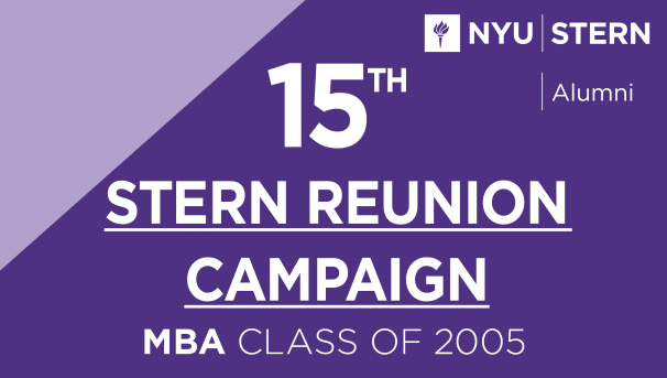 Stern MBA Class of 2005 Reunion Campaign Image