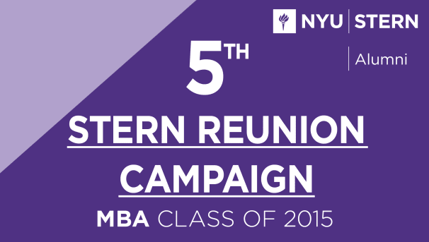 Stern MBA Class of 2015 Reunion Campaign Image