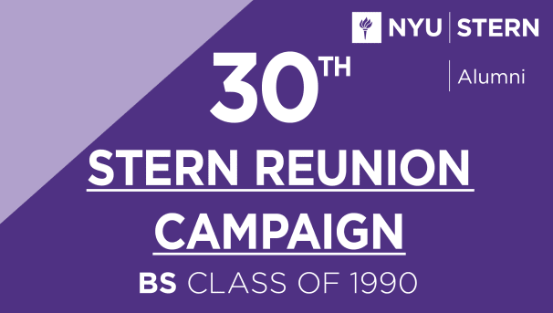 Stern BS Class of 1990 Reunion Campaign Image