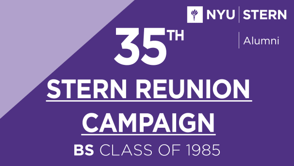 Stern BS Class of 1985 Reunion Campaign Image