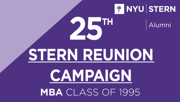Stern MBA Class of 1995 Reunion Campaign Image