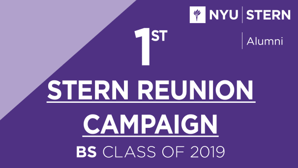 Stern BS Class of 2019 Reunion Campaign Image