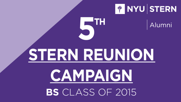 Stern BS Class of 2015 Reunion Campaign Image