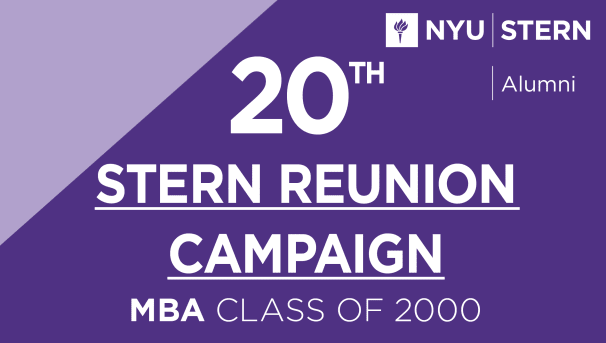 Stern MBA Class of 2000 Reunion Campaign Image