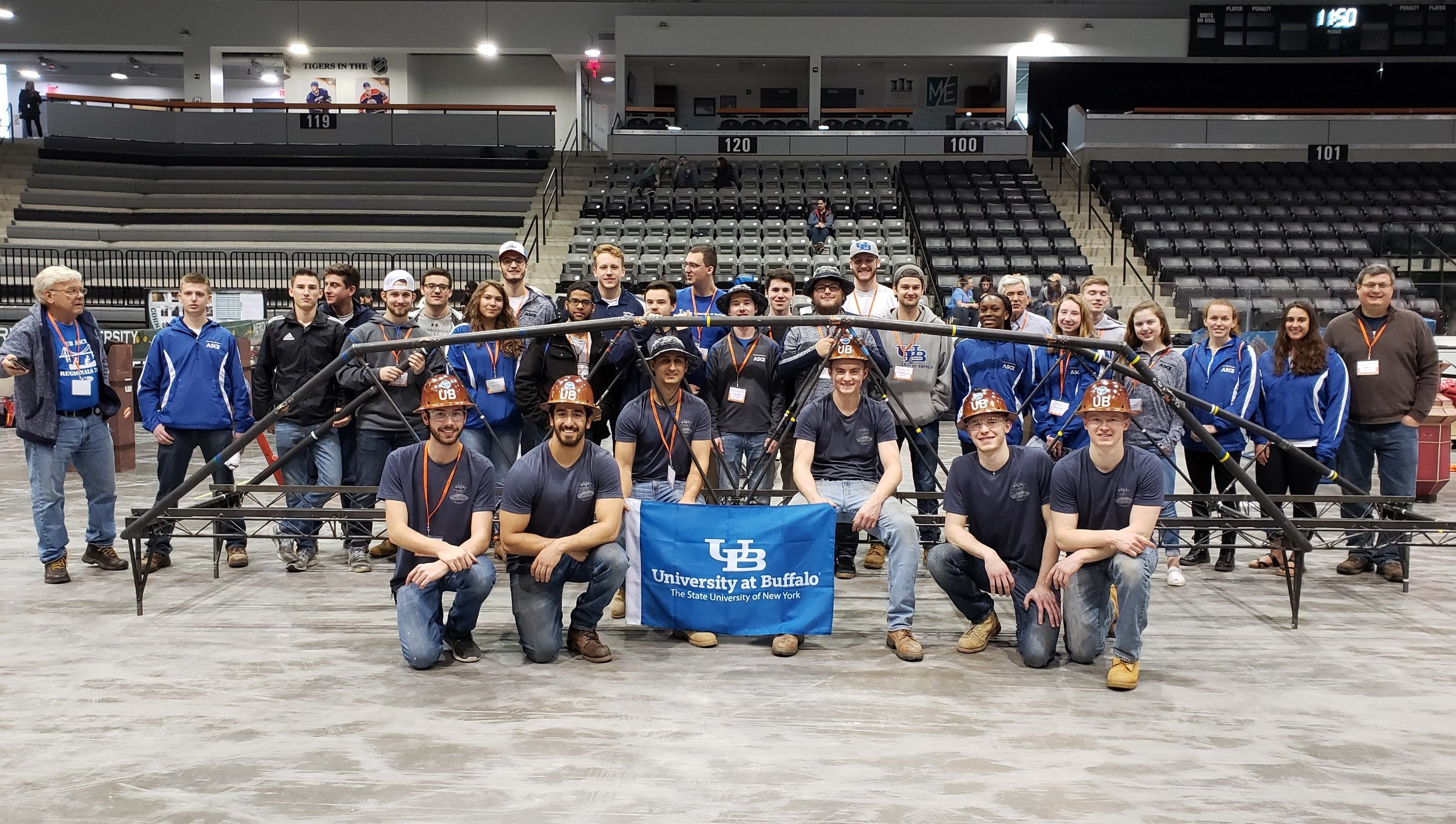 Steel bridge team at 2019 regionals