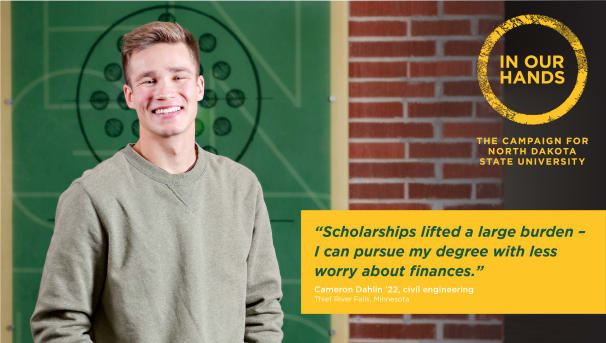 """""""Scholarships lifted a large burden - I can pursue my degree with less worry about finances."""""""