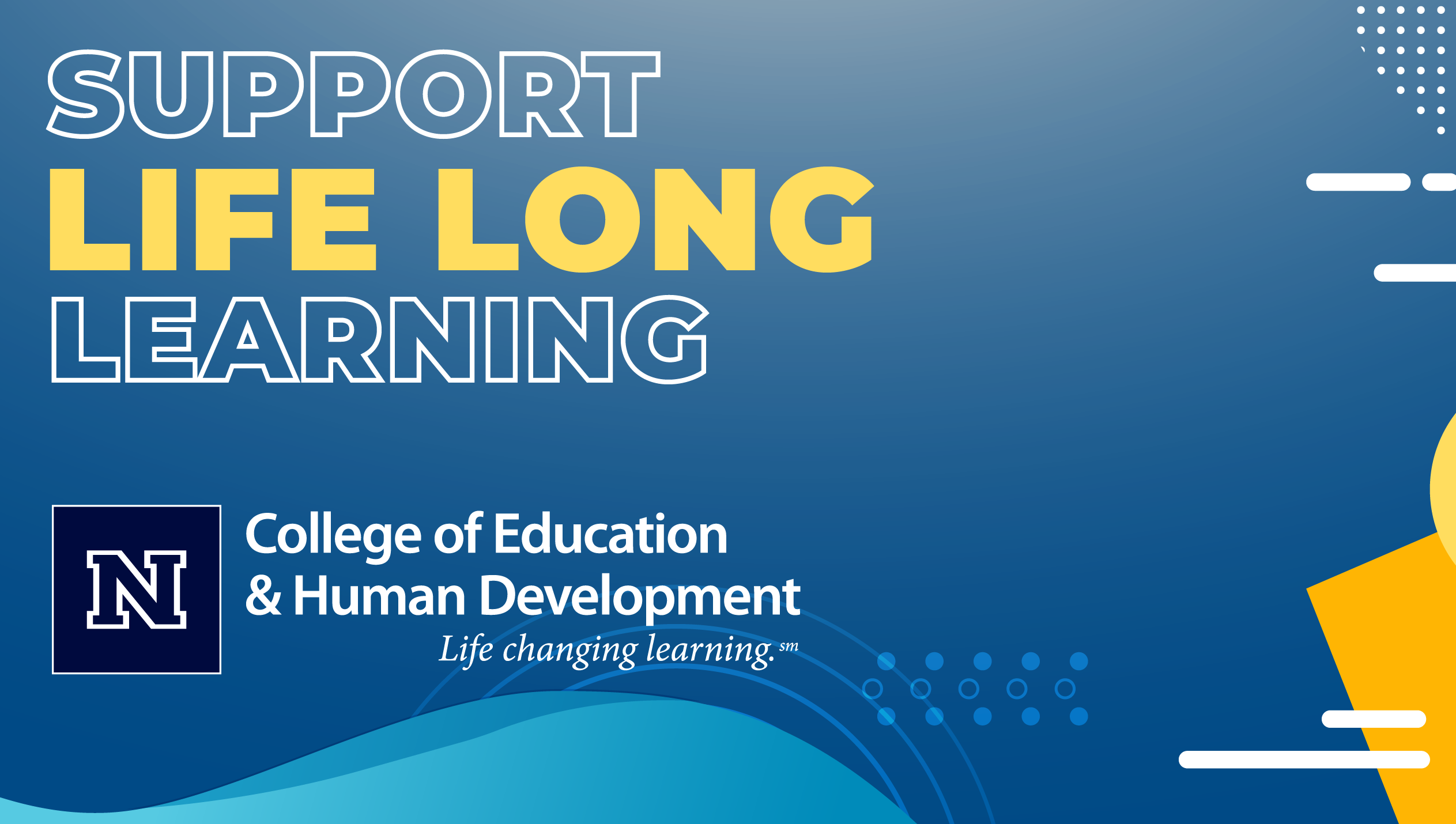 Support Life Long Learning Banner